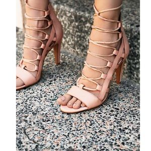Leather Lace Up Heel